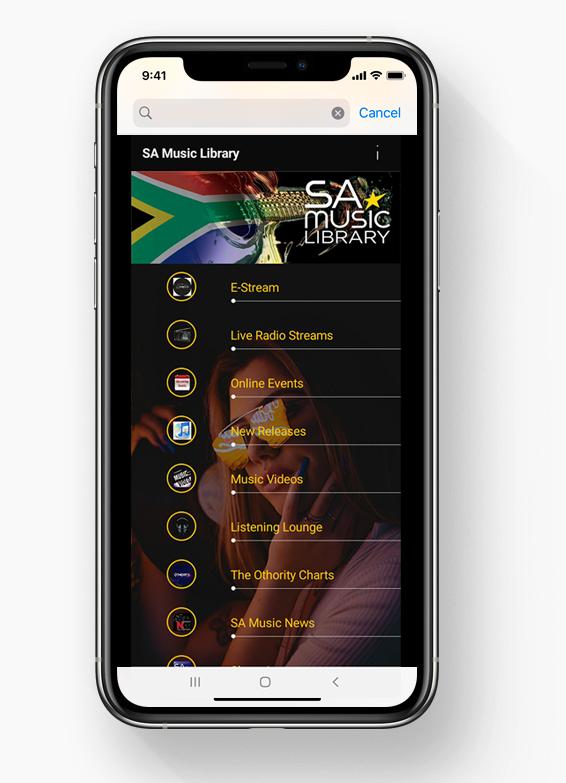 SA Music Library App